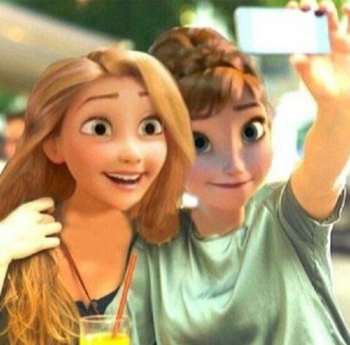 Rapunzel & Anna. Credit: FanPop