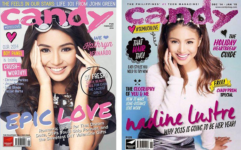 Kathryn Bernardo Nadine Lustre Candy girls Cosmo girls