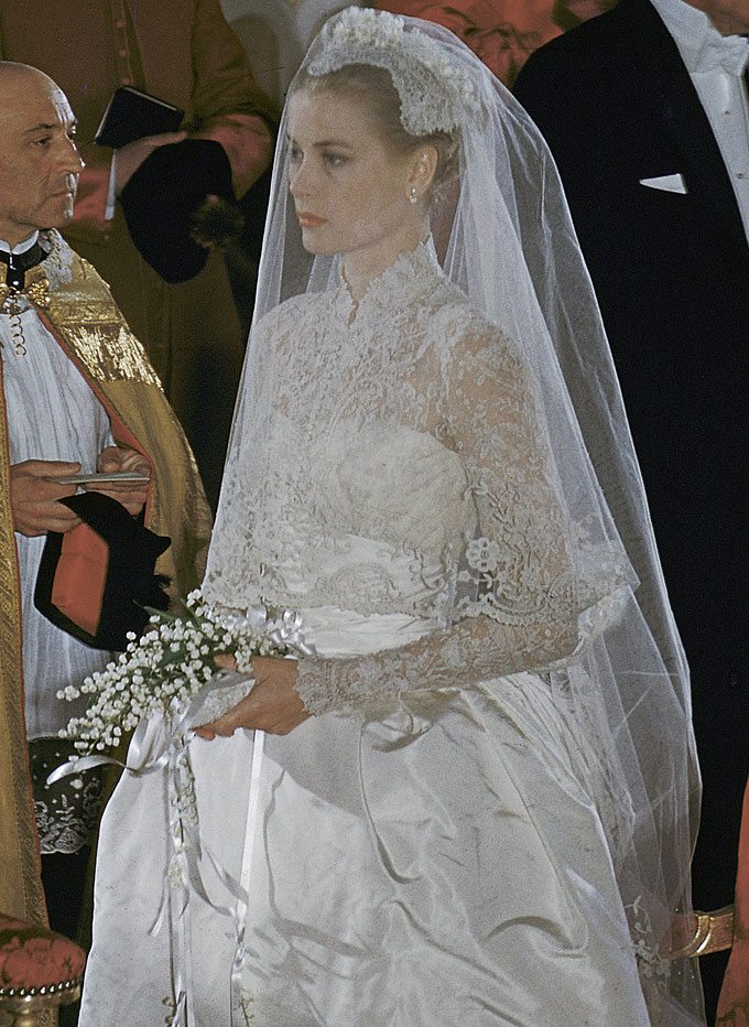 Beautiful resemblance heart evangelista and grace kelly Grace kelly wedding dress design