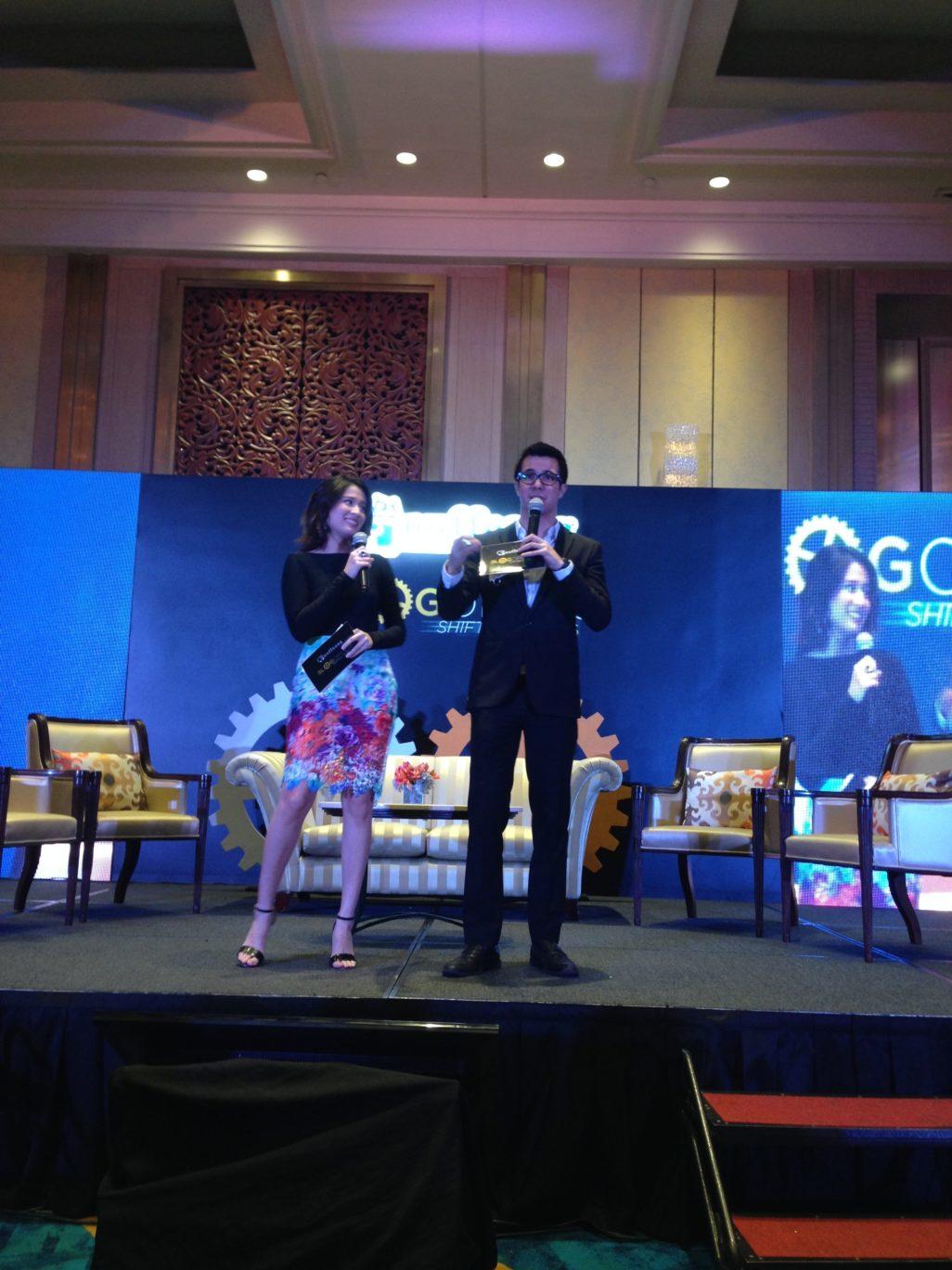 The articulate hosts were Karla Aguas and Justin Quirino.