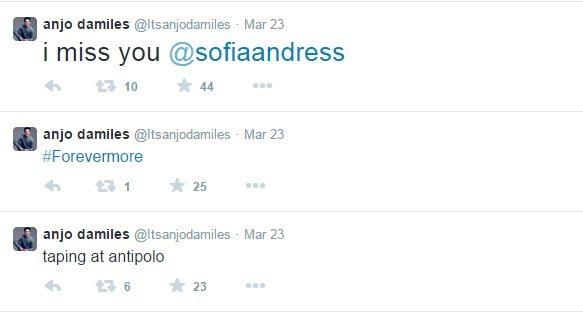 anjo damiles misses sofia andres via twitter