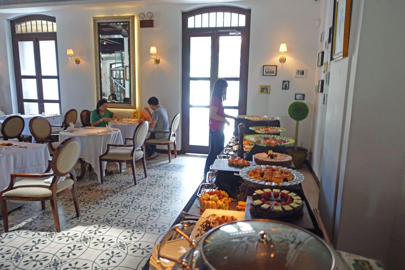 alkaff mansion ristorante food spread singapore