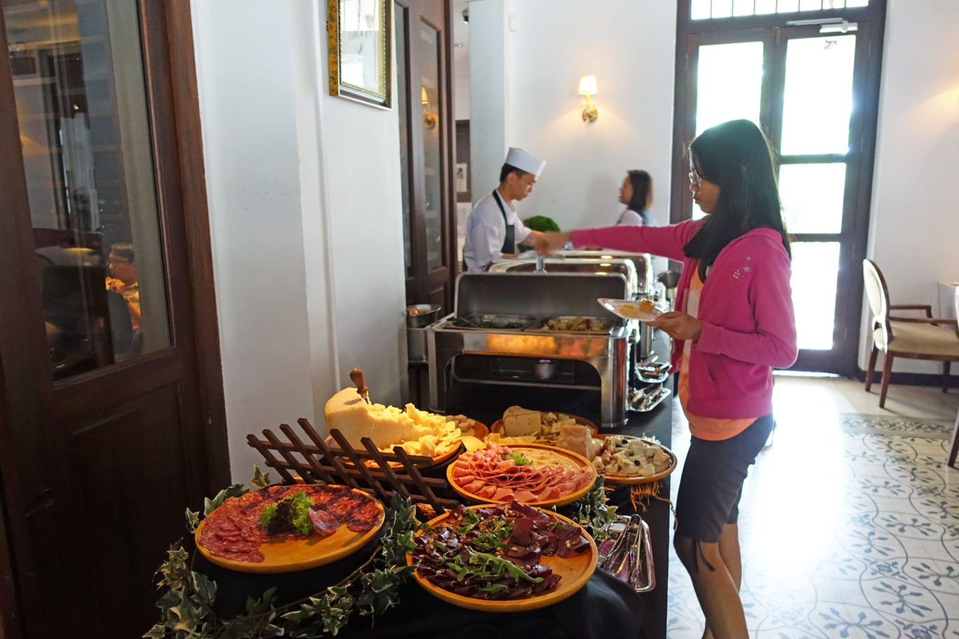 food spread at alkaff mansion ristorante singapore italian tea buffet