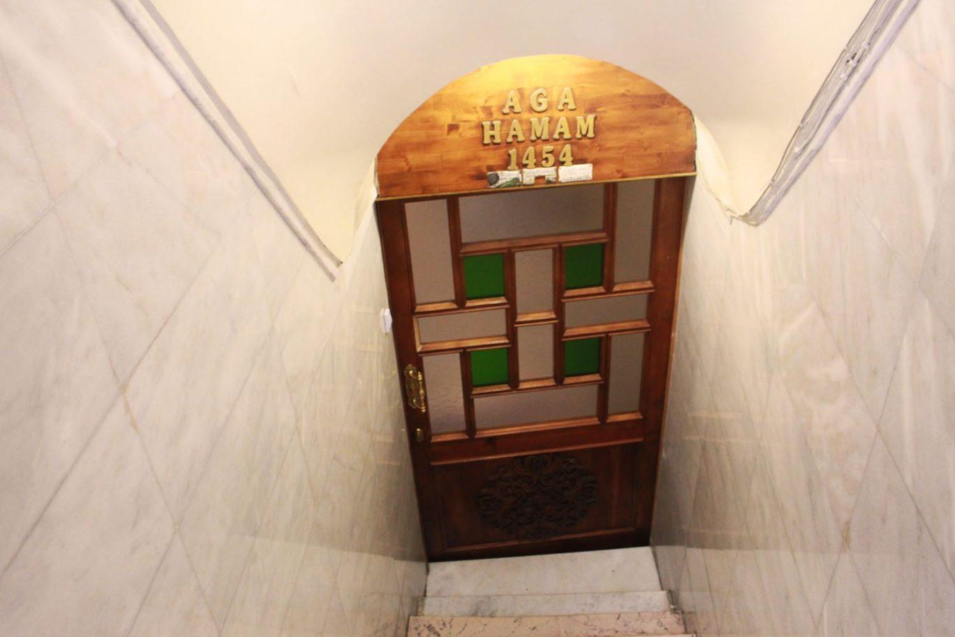 aga hamami door 1454 oldest turkish spa in istanbuk