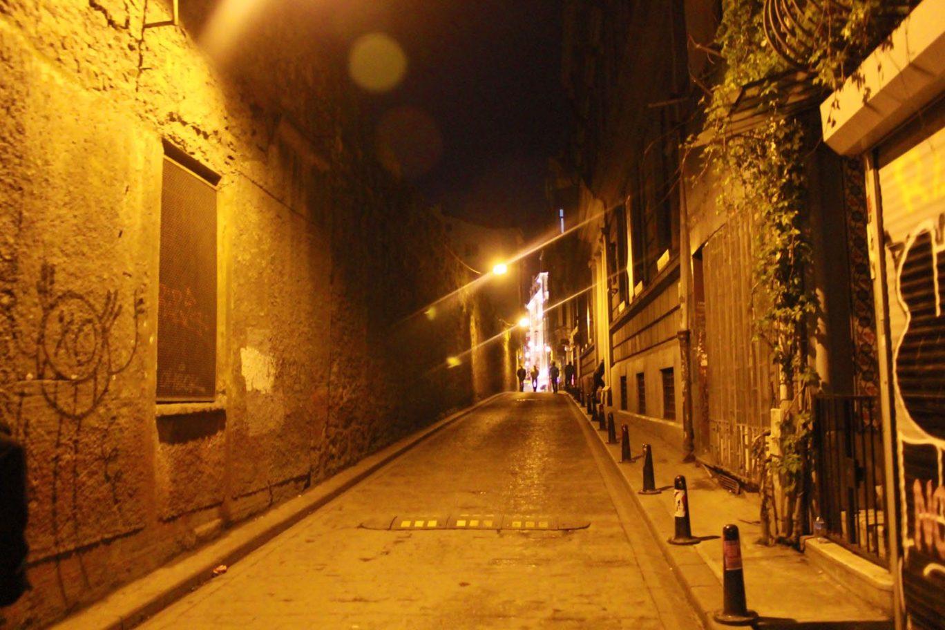 street to aga hamami hamam in turkey istanbul