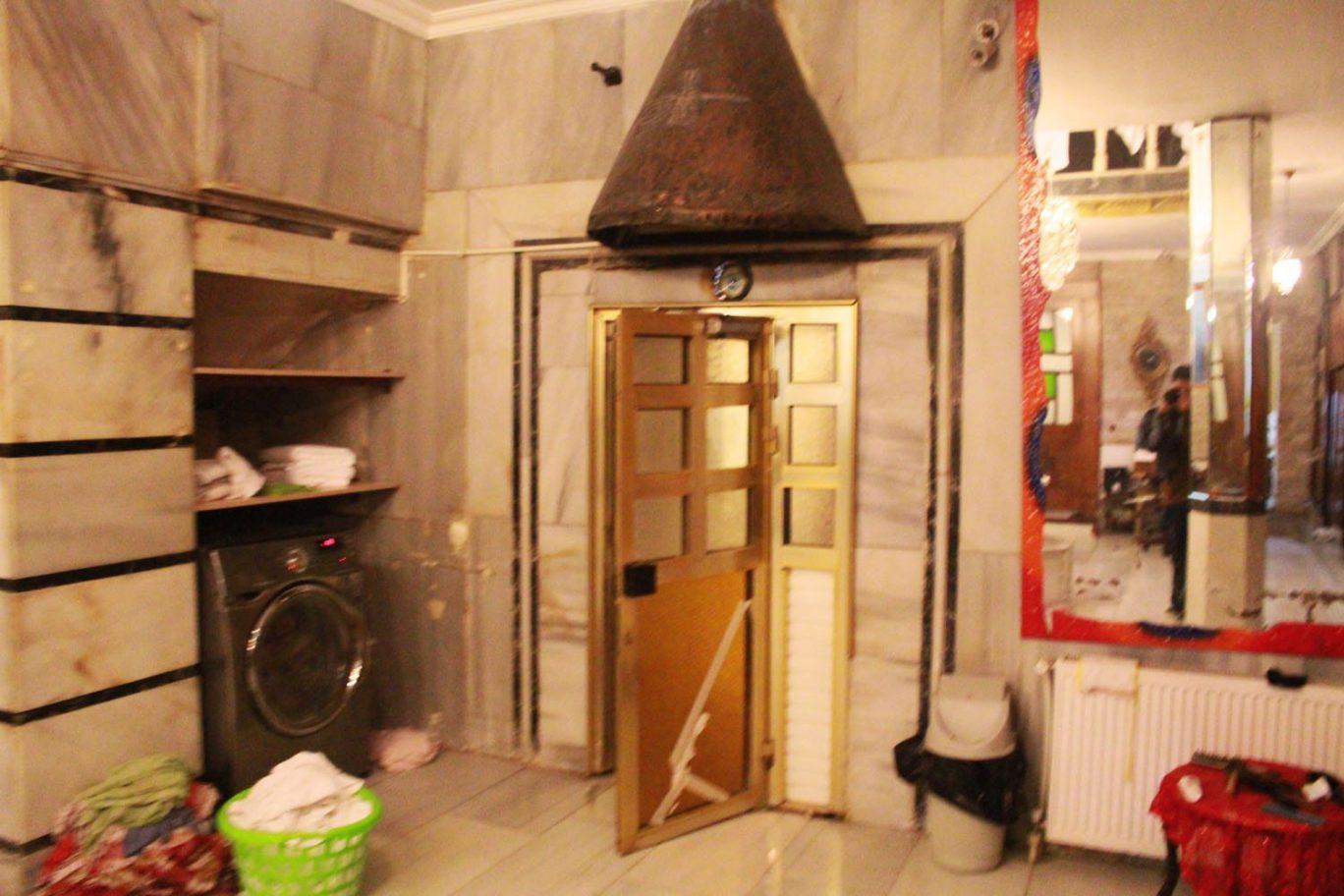 wet floor at aga hamam turkish bath