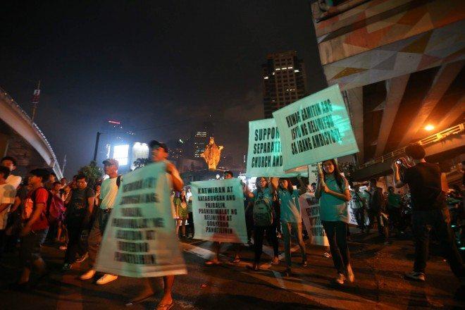 protest iglesia ni cristo at edsa INC