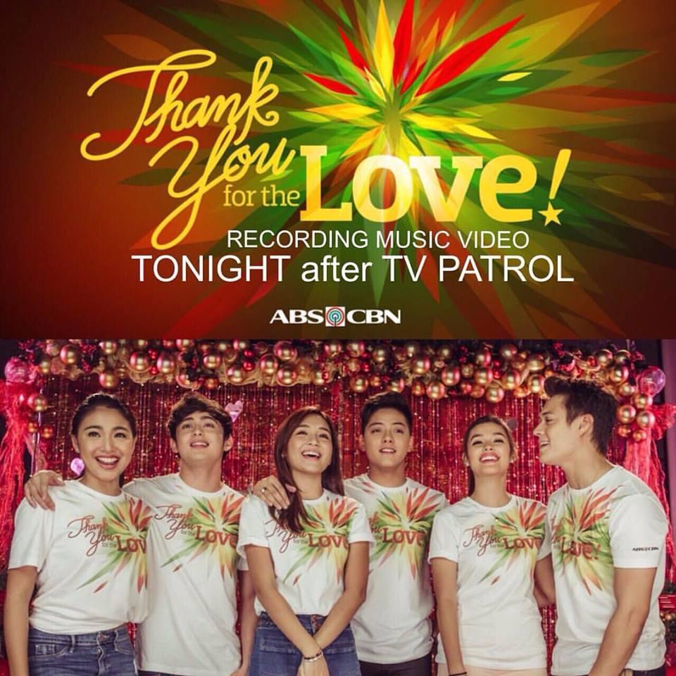 ABS-CBN Christmas Station ID LizQuen KathNiel JaDine Recording Music Liza Soberano Enrique Gil Kathryn Bernardo Daniel Padilla James Reid Nadine Lustre
