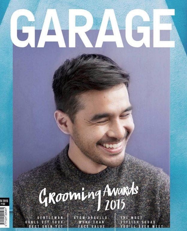 atom araullo host reporter cover of garage magazine UKG