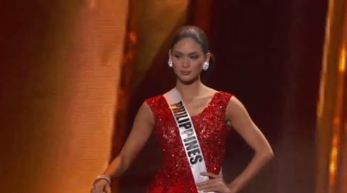 pia wurtzbach red gown prelims miss universe philippines 2015