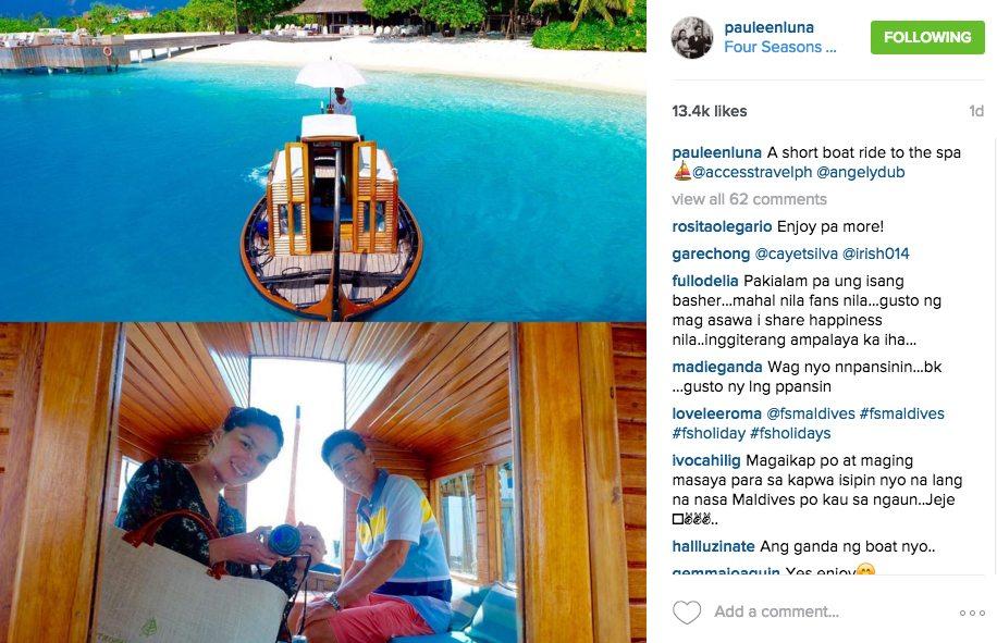 Vic Sotto Pauleen Luna Honeymoon Maldives Pictures Bossing Eat Bulaga Dabarkads 4