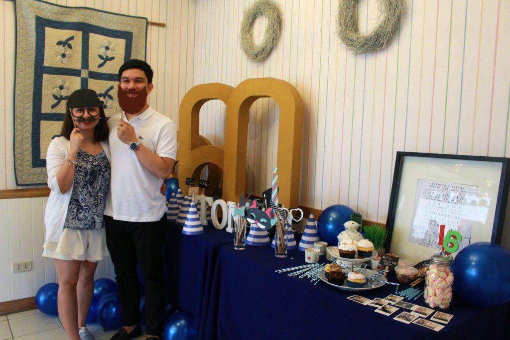 birthday table spread at mom and tinas ugong pasig
