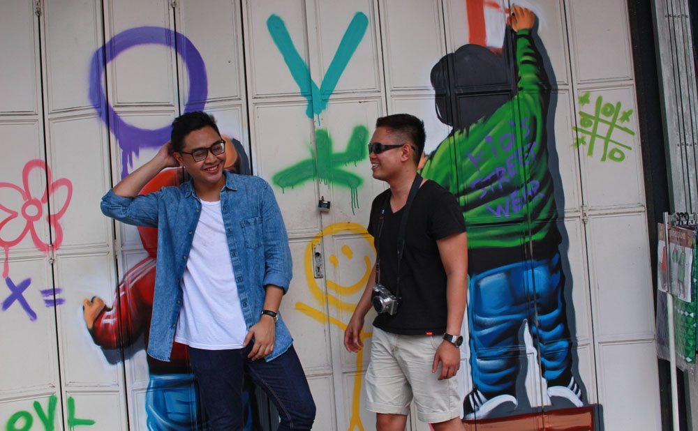 graffiti vandal in johor bahru artsy chinatown walking tour