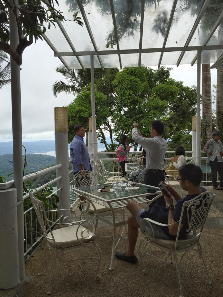 view of taal lake from bag of beans newest branch location veranda