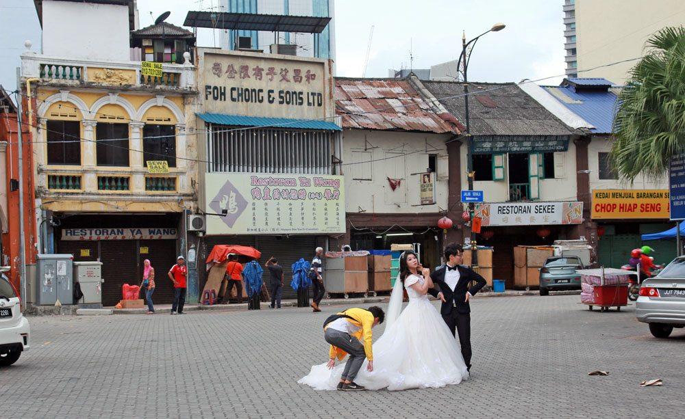 wedding shoot chinatown johor bahru chinatown