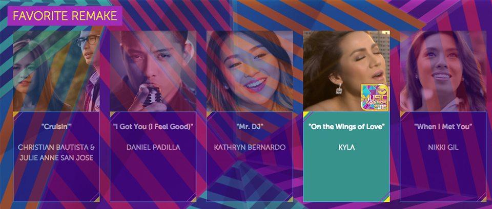 2016 Myx Music Awards Winners Favorite Remake Kyla On The Wings of Love