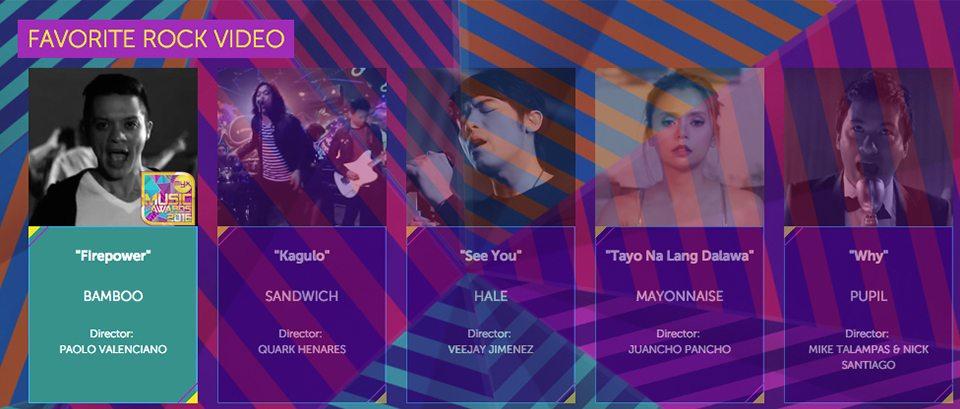 2016 Myx Music Awards Winners Favorite Rock Video Bamboo Firepower