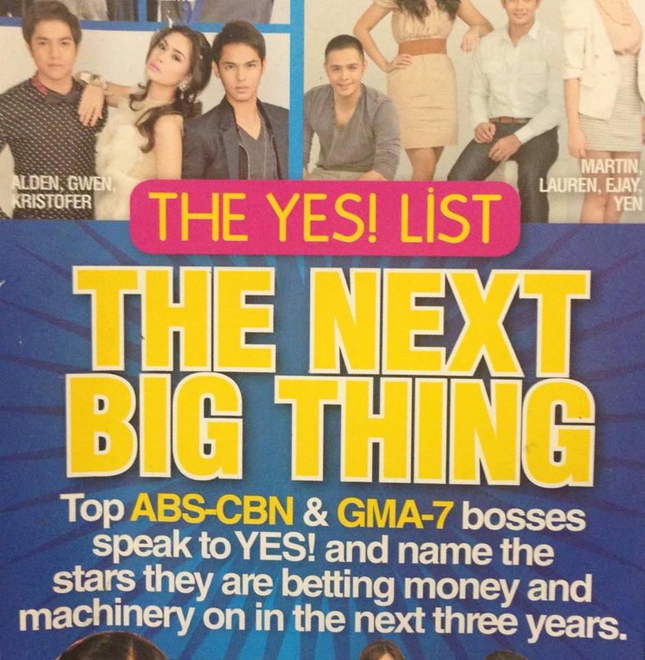 Alden Richards Aldenvasion 2011 yes! magazine next big thing list 2016 phenomenal star ALDUB maine mendoza Tisoy Pambansang Bae 2