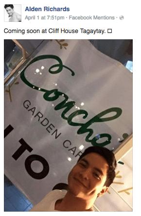 Alden Richards Opens Owns Restaurant Concha's Garden Cafe Cliffhouse Tagaytay Opening April 29.jpg