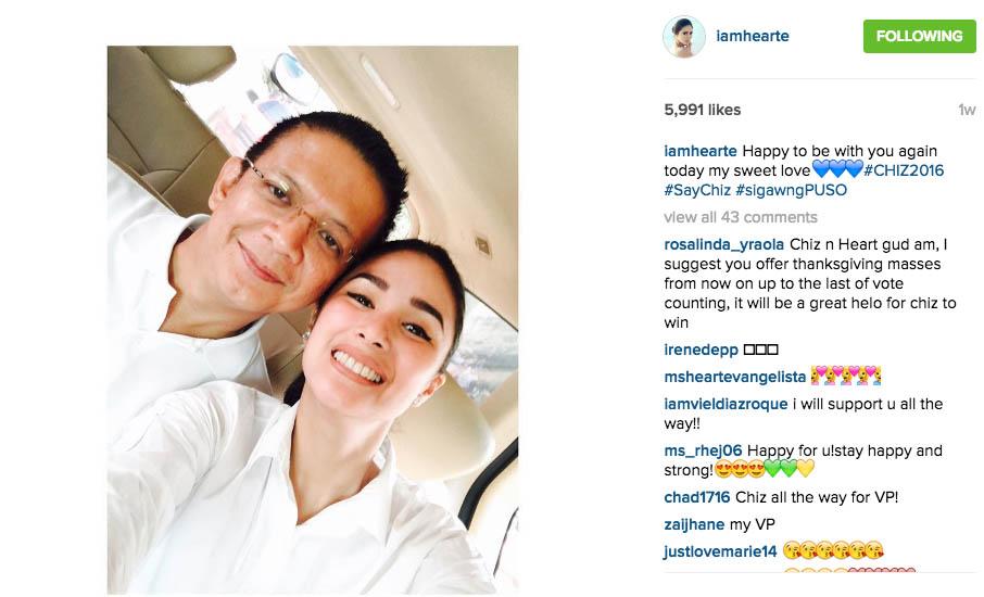 2 Chiz Escudero Concedes Vice-Presidential Race Heart Evangelista Wife Grace Poe tandem