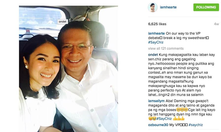 8 Chiz Escudero Concedes Vice-Presidential Race Heart Evangelista Wife Grace Poe tandem