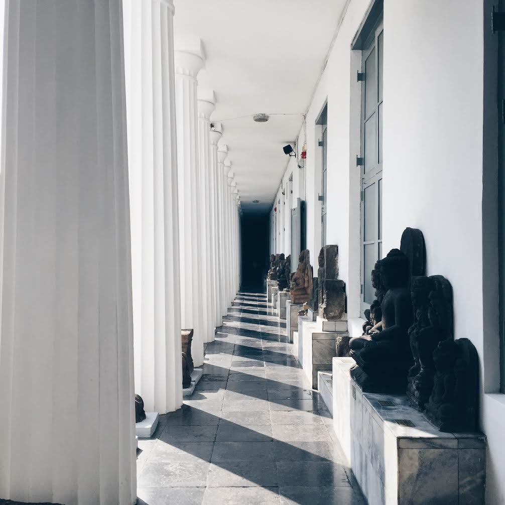 national museum of indonesia hallway
