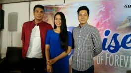 ritz azul with paulo avelino and ejay falcon in new teleserye The Promise of Forever