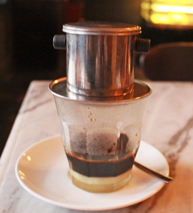 vietnamese drip coffee sweet ho chi minch city