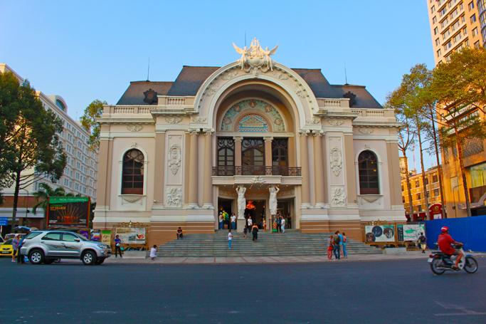 saigon opera house ho chi minh city facade