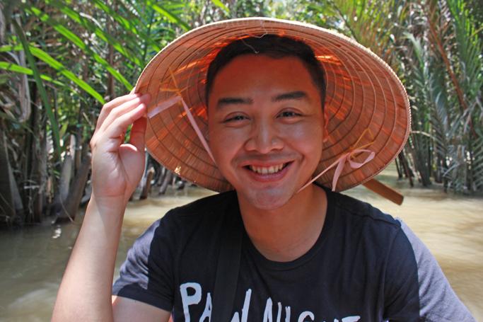 selfie boat mekong delta saigon ho chi minh city vietnam