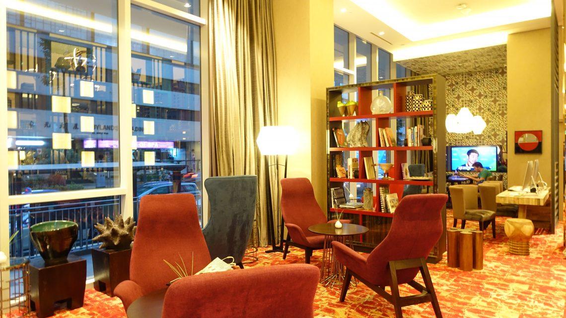 Hotel Lobby of Mercure Singapore Bugis Accor Colorful Boutique hotel in Singapore