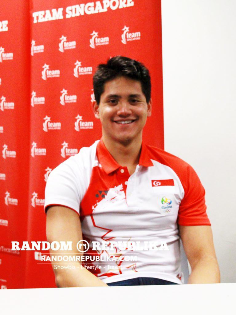 joseph schooling olympic gold medalist swimming singapore press conference kallang auditorium